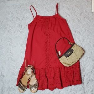 NWOT Knox Rose Red Eyelet Dress